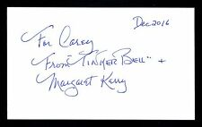Margaret Kerry Disney Model used for Tinkerbell Peter Pan Signed 3x5 Card T2537