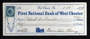 E711 - 1879 FIRST NATIONAL BANK OF WEST CHESTER -