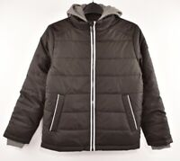 MICHAEL KORS Boys' Kids/ Hooded Lightly Padded Jacket, Black, size 10-12 Years