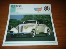 ★★1938 BUICK CENTURY 66C INFO SPEC SHEET PHOTO PICTURE 38 320 66 C★★