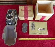 Rollei Rolleiflex Baby Grey TLR 4x4 camera, Manuel BOX Schneider 60 F3.5 Xenar