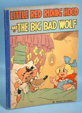 1934 Little Red Riding Hood & the Big Bad Wolf Walt Disney Storybook David McKay