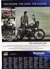 Triumph Scrambler, Thruxton, Bonneville period motorcycle advert  2010