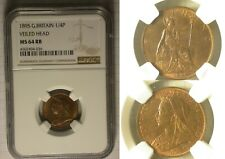 Great Britain 1/4 Penny 1895 MS - 64