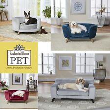 Enchanted Home Pet Luxury Dog Cat Romy Sleeping Sofa Bed Velvet Ultra Plush Soft