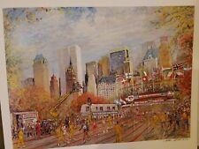 Running New York City Marathon / Kamil Kubik Art Signed Print / Serigraph