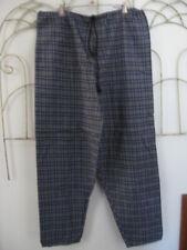 "Vintage 1980's ""Skidz Pants"" Navy Teal w/accents Plaid Flannel Drawstring, Lnc"