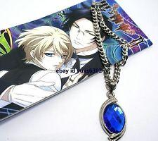 Black Butler Necklace Sapphire Pendant Necklace