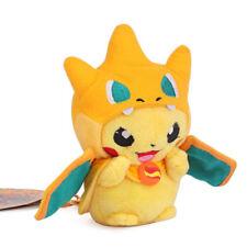 Pokemon Pikachu Cosplay with Charizard Hat Plush Doll Keychain Keyring