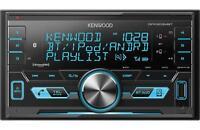 Kenwood 2-DIN Car Stereo Digital Media Receiver w/ Bluetooth AUX USB *DPX303