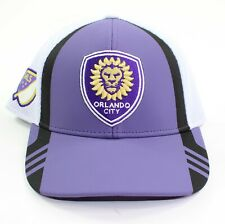 Adidas Orlando City Lions Men MLS Fitted Flex Mesh Cap Hat Size L/XL New w Tags