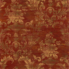 SM30383 Classic Silks 3 Damask Gold Red Galerie Wallpaper