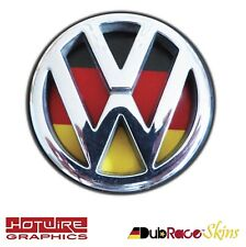 VW GOLF MK3, POLO MK3 6N German Flag - REAR Badge Inserts. (Euro Look) GTI, R32