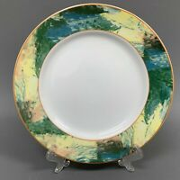 Euro Vertex Patra Thailand Dinner Plate Yellow Green Orange White 10.5