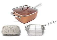Concord 5 in 1 Ceramic Coated Chefs Multi Pan Set -copper- Induction Compatible