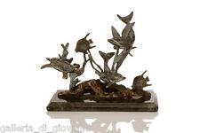 Solid Brass Dolphin Sea World Sculpture Statue Ocean Coastal Nautical Turtle