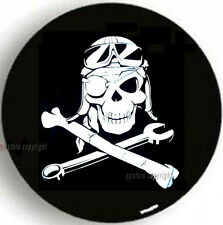 "NEW SPARE TIRE COVER 26.5""-28.5"" 15R Pirate Mechanic Skull MB1707G R15"