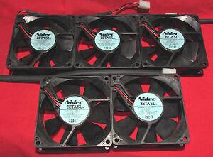 5 pcs  NIDEC Beta SL Server Cooling Fan 12V, 0.13A, 35 CFM, 80mm D08T-12PHR 12PH
