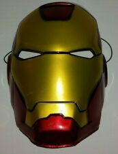 2010 Marvel Disguise Iron Man Plastic Halloween Adult Size Mask *Thin Plastic*