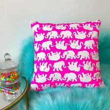 New throw pillow made with Lilly Pulitzer Pop Pink Tusk In The Sun fabric