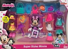 Disney Junior Minnie Snap n' Pose Deluxe Gift Set 19 Fashion Pieces *Free post*