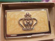 Metal Wallet Slim Credit Card Holder Embellished Diamante Christmas Gift Box
