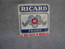 French Vintage provencal  aluminum PLAQUE  sign :  RICARD