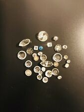 LOT OF CLEAR AND BLUE DEPRESSION ERA GLASS BUTTONS