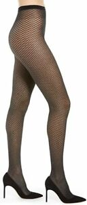 Wolford Night Sparkle Tights Black/Silver Hose Women's Size XS 8809