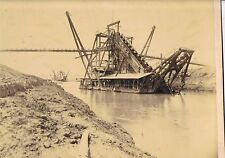 ORIGINAL PHOTOGRAPH OF AMERICAN DREDGERS ON THE PANAMA CANAL C1910