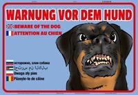 Warnung vor dem Hund Blechschild Schild gewölbt Metal Tin Sign 20 x 30 cm