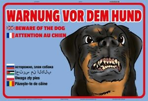 Warnung vor dem Hund Blechschild Schild gewölbt Metal Tin Sign 20 x 30 cm W0895