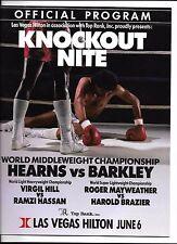 Thomas Hearns Iran Barkley On Site Boxing Program  June 6 1988