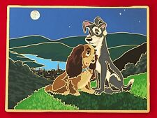 LADY AND THE TRAMP DISNEY PIN ACME ARCHIVE ARTIST SERIES LITHO JUMBO LE 100