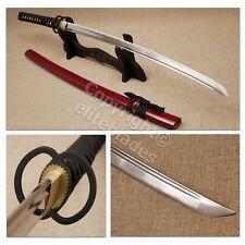 Musashi Double Ring Hand Forged Functional Katana Sword Sharp Blade +Stand & Bag
