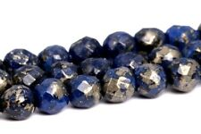 4MM Natural Dark Blue Pyrite Beads Grade AAA Faceted Round Loose Beads 15.5""