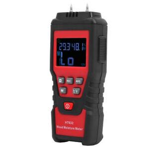 Digital Wood Moisture Meter Wood Humidity Tester Hygrometer DampPaper Cement