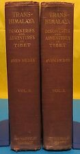 Sven Hedin / TRANS-HIMALAYA Discoveries and Advnetures in Tibet 1st Edition 1909