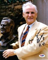 DON SHULA SIGNED 8x10 PHOTO + HOF 97 LEGENDARY COACH OF MIAMI DOLPHINS PSA/DNA