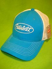 Peterbilt Motors Trucks Marine Blue & White Sueded Summer Mesh Cap/Hat