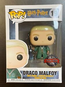 FUNKO POP HARRY POTTER DRACO MALFOY QUIDDITCH ROBES 19 SPECIAL EDITION EXCLUSIVE