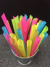 200 Plastic Jumbo Drinking Straws Party Smoothies Cocktail Juice Slush Straw Vic