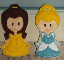 Handmade Finger Puppets - Cinderella & Bell - Beauty & The Beast Princess Disney