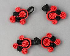 1 COPPIA Rana Elementi di fissaggio Chiusura Bottoni Nodi Colore: Nero/Rosso #s16