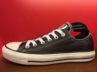 New Converse All Star Classic Chuck Taylor Black Leather Low US Men 3-11 Shoes