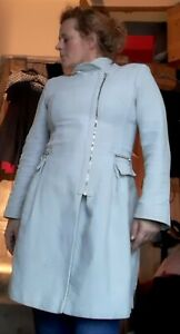 Women's Next Coat Fit And Flare Size 14 light cream
