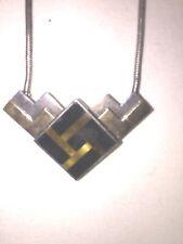 "Retro M&J Savitt Sterling 14k Necklace - 10"""