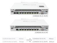 MikroTik Cloud Core Router 1009-7G-1C-PC RouterOS Desktop Case Passive 1GB RAM