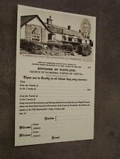 Photochrom postcard -marriage certificate - Gretna Green - Dumfries & Galloway