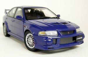 Autoart 1/18 Scale - 77151 Mitsubishi Lancer Evolution VI Blue Diecast Model Car